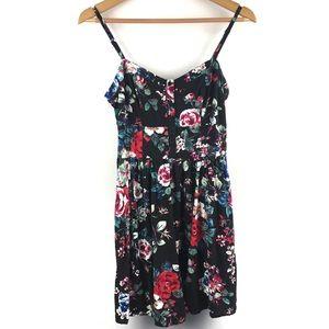 Express Black Floral Dress